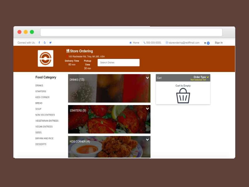 Online Ordering Web Application